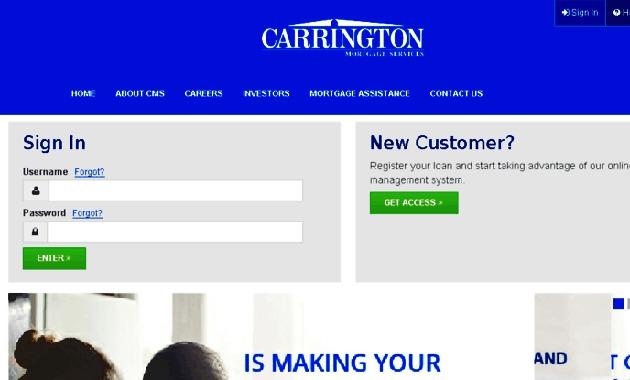 Carrington Mortgage Login