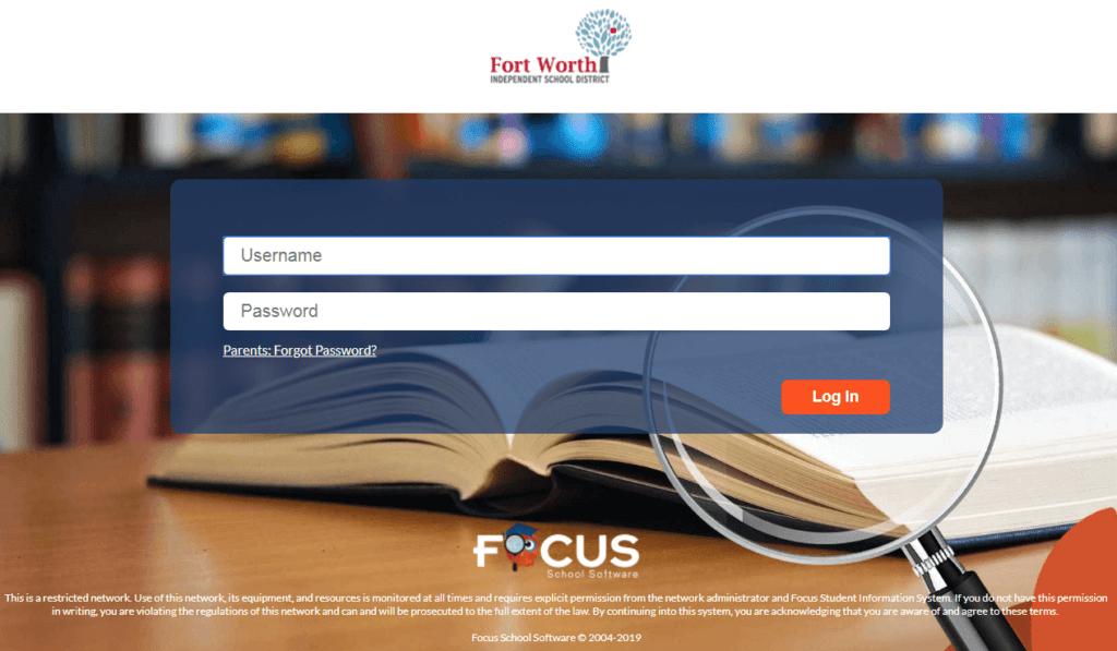 Login to FWISD Focus School Software