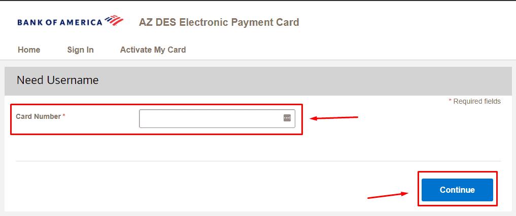 Enter Card Number