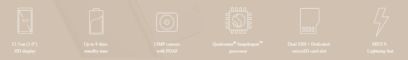 Xiaomi-Redmi-5A-Specifications