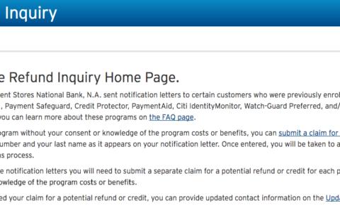 Citi.com/refundinquiry