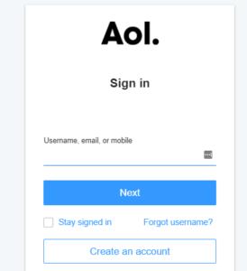 Create AOL Account