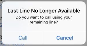 Last Line No Longer Available