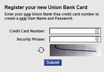 Register for Union Bank Account at MyCreditCard.UnionBank.com
