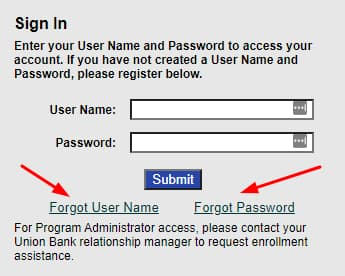 Reset Password at MyCreditCard.UnionBank.com